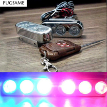 3LED*2 6LED Big remote control Eagle Eye Highlight lens spotlights car network Wireless Strobe Driving flashing lights