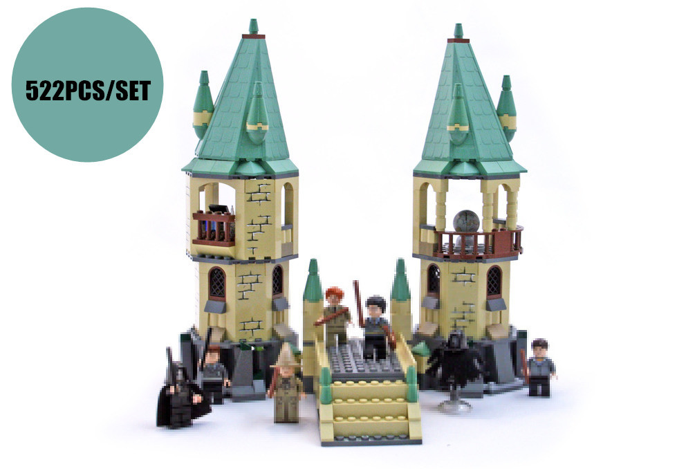 New Hogwarts Magic School Movie Series fit legoings Harry potter figures city Building Blocks Bricks diy Toys 4867 Kids Gifts