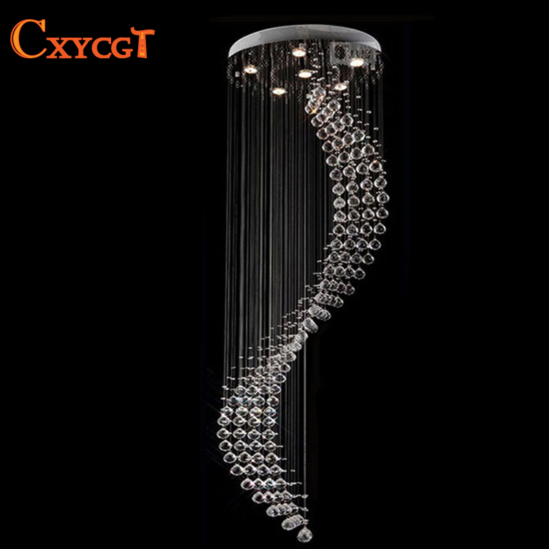 New Design Hot Selling Luxury Spiral Crystal Ceiling Light for stairs with GU10LED Bulbs D600mm H2000mm автоинструменты new design autocom cdp 2014 2 3in1 led ds150