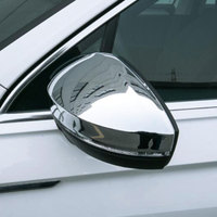 Jameo Auto Car Rear View Rearview Side Glass Mirror Decoration Cover Trim For Volkswagen VW Tiguan