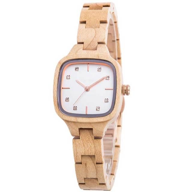 CZOKA cuarzo reloj de pulsera relojes de mujer Zegarek Damski señoras reloj de las mujeres Natural sándalo diseño Bayan Kol Saati