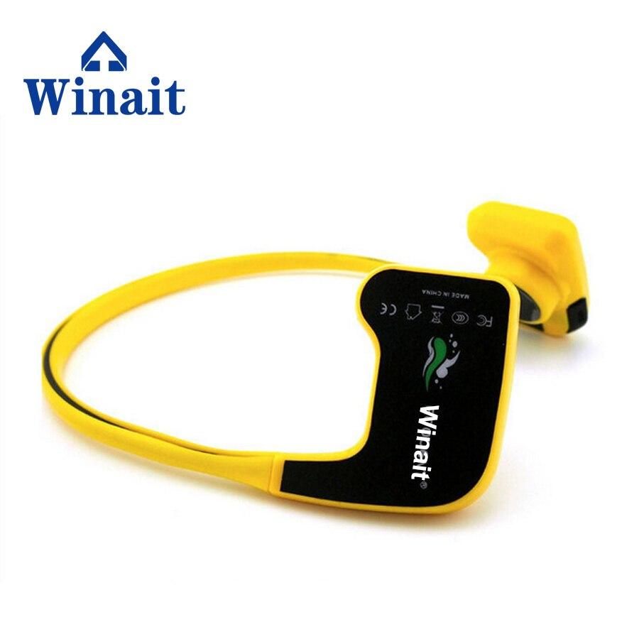Winait Medical Sports IPX68 Waterproof Bone Conduction 8GB Headset 10m Underwater Swimming Diving Mp3 Player Stereo Headphone