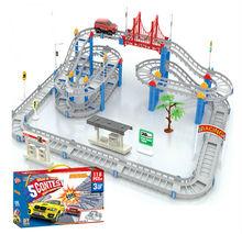 Electric rail car toy The three layer Thomas track Thomas simulation locomotive track train of  children's educational diy toys