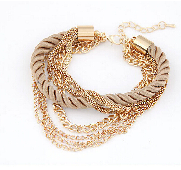 2015 New Fashion Luxury Braided Multilayer Bracelets
