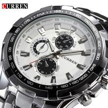 2016 Marca de Lujo completo Reloj de acero inoxidable Hombres de Negocios Casual Relojes de cuarzo Militar Reloj impermeable Relogio Nueva VENTA