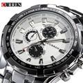 2016 Marca de Luxo completa de aço inoxidável Assista Homens de Negócios Casual Relógios de quartzo relógio de Pulso Militar Relogio à prova d' água Nova VENDA