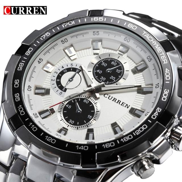 2016 marke Luxus edelstahl Uhr Männer Business Casual quarzuhren Militär Armbanduhr wasserdicht...