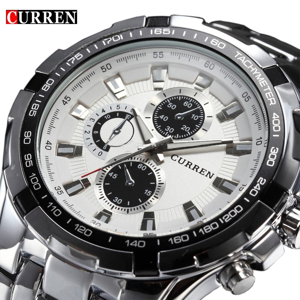 2018 лучший бренд класса люкс Полный сталь часы для мужчин бизнес повседневное кварцевые наручные часы Военная Униформа наручные...