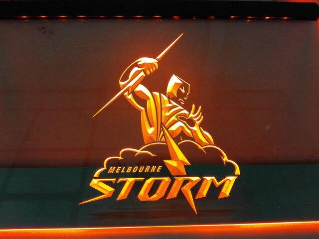 Man Cave Signs Melbourne : Ld378 melbourne storm led neon light sign home decor crafts in