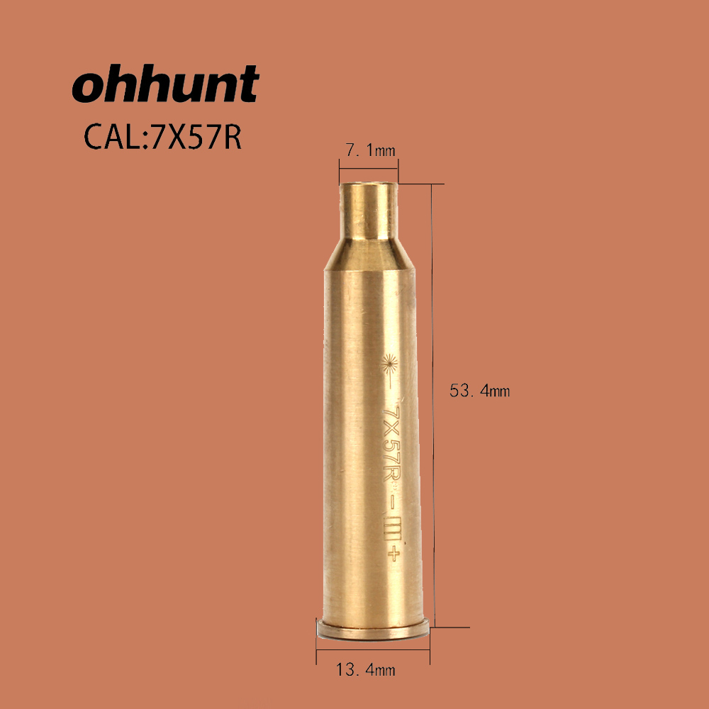 ohhunt CAL 7X57R Boresighter Sighting Brass Material Cartridge Red Laser Bore Sighter for Hunting Shot gun