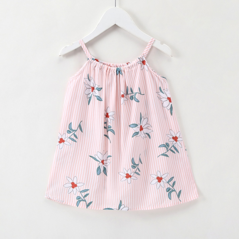 Baby Girl Clothes Summer Cute Striped Dress For Girl Cotton Floral Infant Girl Dresses Toddler