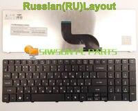 מקלדת מחשב נייד חדשה ru גרסה הרוסית עבור acer aspire 5536 5536g 5538 5538g 5338 5542 5542 גרם 5542/n 5542 w