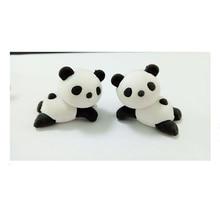Резиновый ластик с объемным изображением животных, панды, Kawaii, креативные милые школьные принадлежности, канцелярские ластики, Ластики для спящей панды, детский ластик