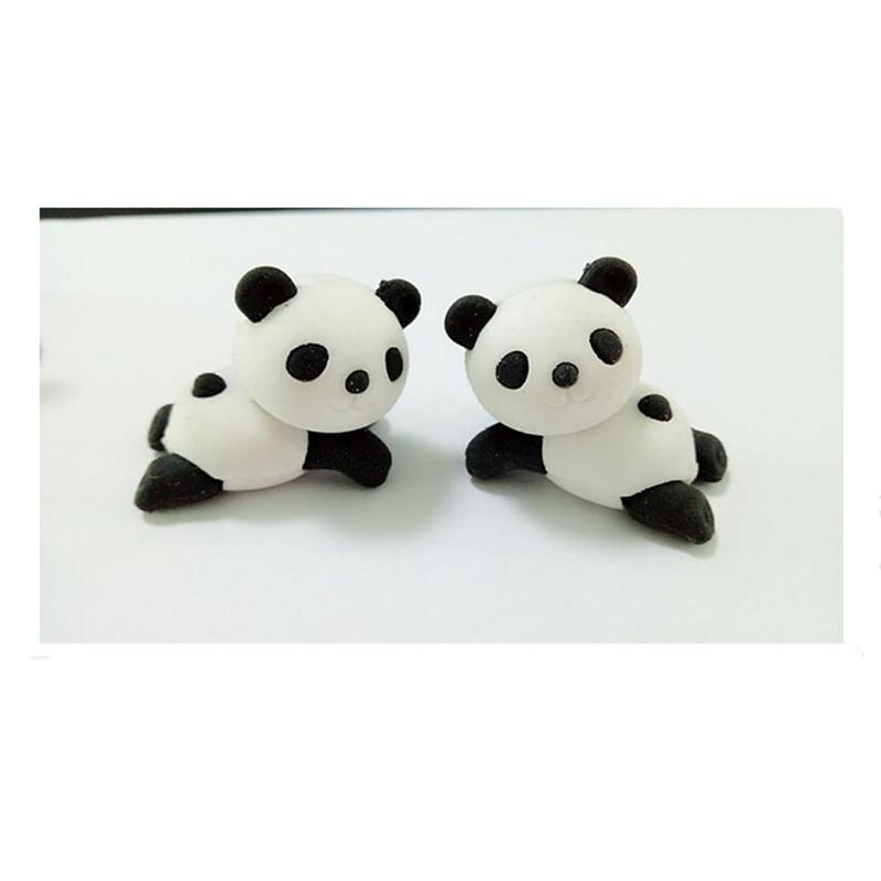 Adroable Animal 3D Panda Rubber Eraser Kawaii Creative Cute School Supplies Stationery Erasers Sleeping Panda Baby Eraser