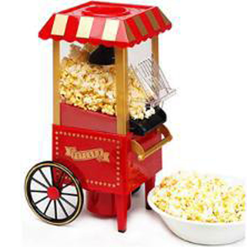 Domestic Nostalgia Electric Vintage Hot Air Popcorn Maker min size Home use household Popcorn Machine popcorn cooker For kidsDomestic Nostalgia Electric Vintage Hot Air Popcorn Maker min size Home use household Popcorn Machine popcorn cooker For kids