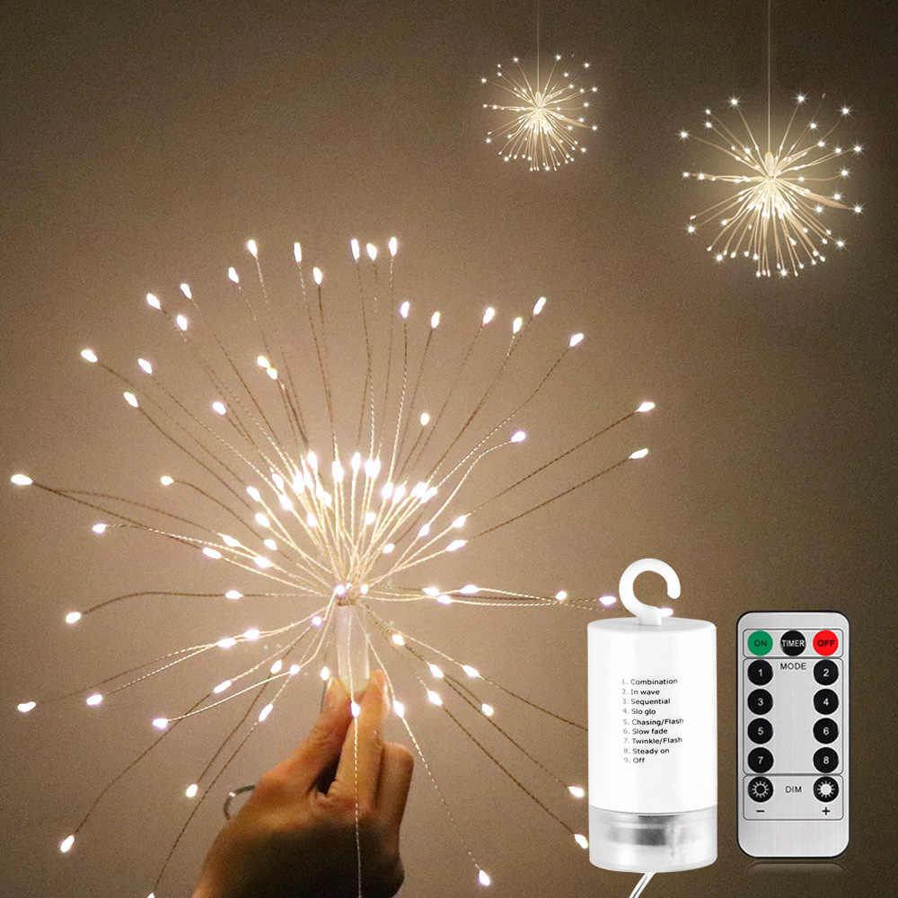 LED ストリングライトガーランドバッテリ駆動花火ストリングの妖精ライト Ir リモート制御折りたたみのためのパーティー