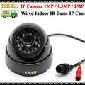 2.0 megapixel câmera Dome IP 1080 P Full HD visão nocturna do IR Câmera de 2MP Onvif Câmera IP Interior