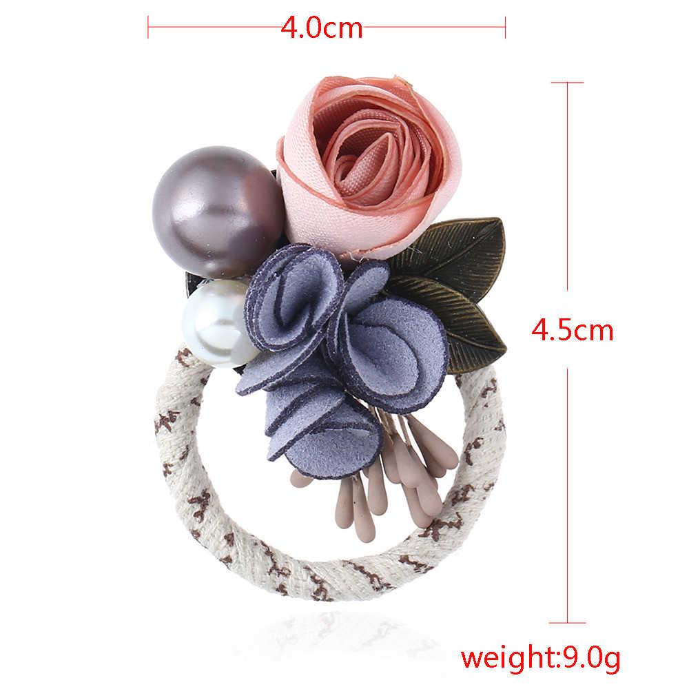 Vintage Bijoux ผ้า Charm ดอกไม้เข็มกลัด Pins สำหรับ Femme ชุดอุปกรณ์เสริม Handmade พิเศษเข็มกลัดผู้หญิงสาวของขวัญ