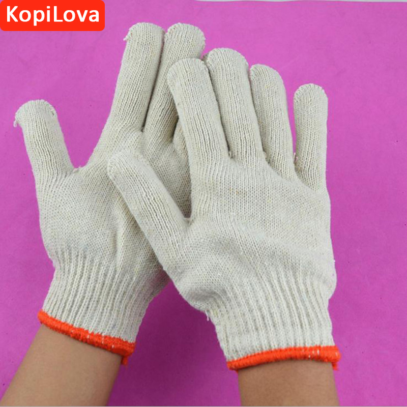 KopiLova Safety Gloves Economical Cotton Working Glove Wear-resistant Gloves Cotton Gloves for Finger Protection free shipping heat resistant finger glove latest reinforced one piece trend protecting gloves goods magic funny handmade
