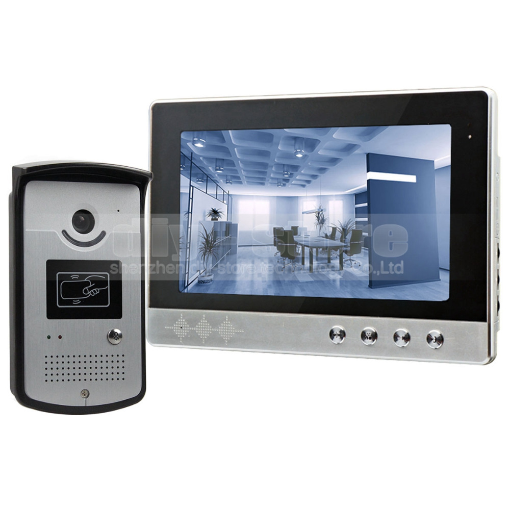 Diysecur 10 inch wired video door phone doorbell home for Door intercom