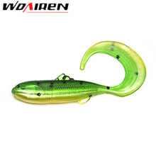 WDAIREN 10 Pcs/lot Fishing Lures 4.5cm 1g FAT Swing Impact Swimbait Craws Soft Lures Fishing Soft Bait Bass Bait YR-254