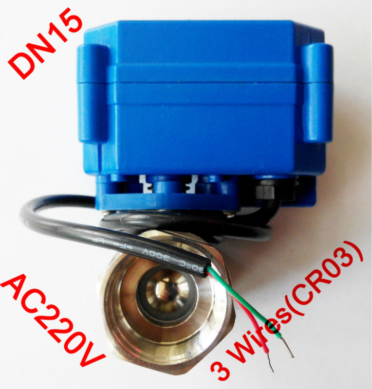 1/2 Mini electric ball valve 3 wires(CR03), AC220V motorized valve SS304, DN15 electric motor valve for brewing 1 2 mini electric actuator valve 2 wires cr01 dc12v motorized ball valve ss304 dn15 electric valve for water control