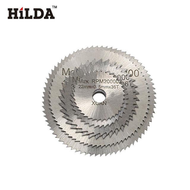 HILDA 6pcs HSS Circular Saw Blade Rotary Tool For Dremel Metal Cutter Power Tool Set Wood Cutting Discs Drill Mandrel Cutoff