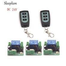 Sleeplion DC 24 В 1ch канала Беспроводной РФ удаленного 2 3-ключ зажигания передатчик + 3 приемника на/ off