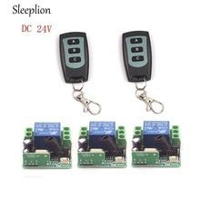 Sleeplion DC 24V 1CH Channel Wireless RF Remote 2 3-key Switch Transmitter+3 Receiver On/Off
