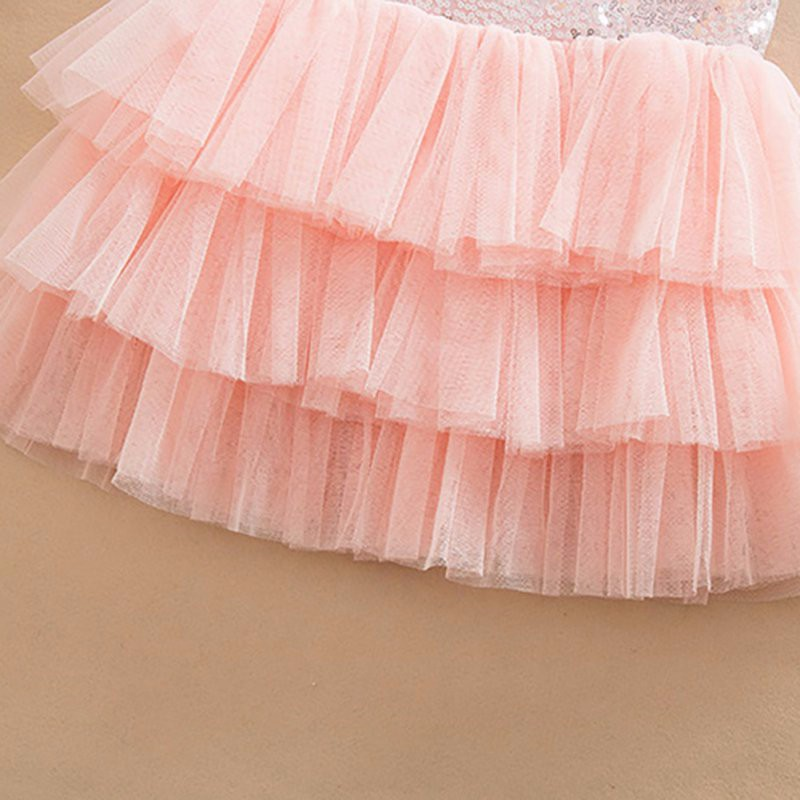 17 Infant Baby Girls Sequined Bow Dress Kids Wedding Party Dresses Children Clothing vestido de festa infantil menina 11