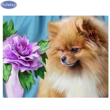 Beads embroidery SALE dog diamond painting Pomeranian cross-stitch mosaic picture of rhinestones home decoration Arts and crafts