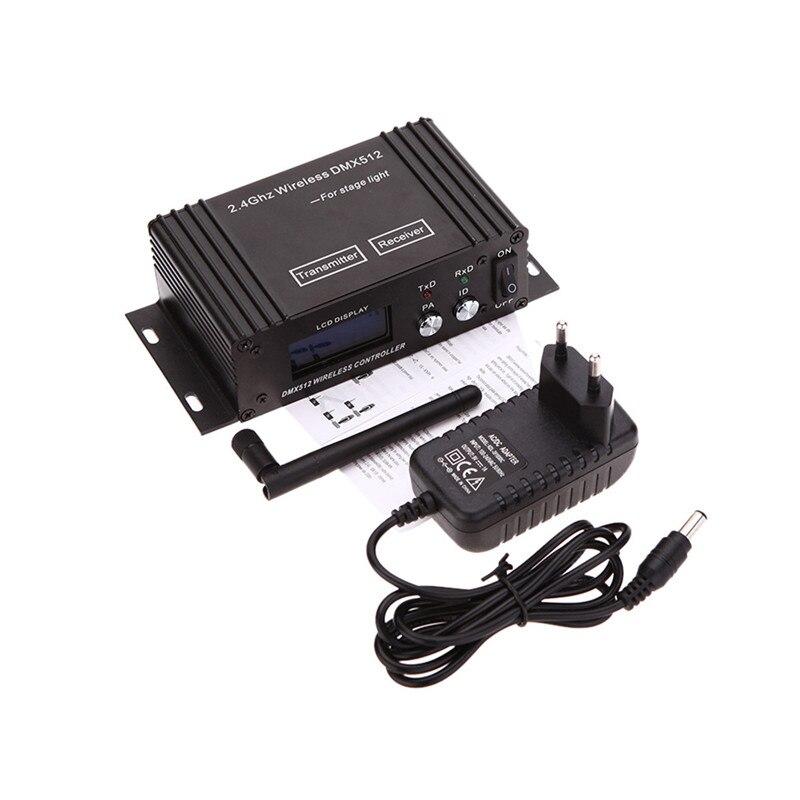 Mini 2.4G sans fil Dmx 512 contrôleur émetteur récepteur Lcd affichage Dmx contrôleur répéteur lumière Disco