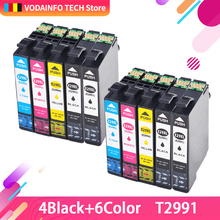 10pk ink cartridge with lasted chip Compatible for Epson XP-235 XP-432 XP-342 XP-335 XP-332 XP-245 XP-435 XP-442 XP-345 XP-247 298 299 t298 t299 ciss ink cartridge dye ink refill kits for epson xp 345 xp 342 xp 245 xp345 xp342 xp245 xp 345 342 245 printer