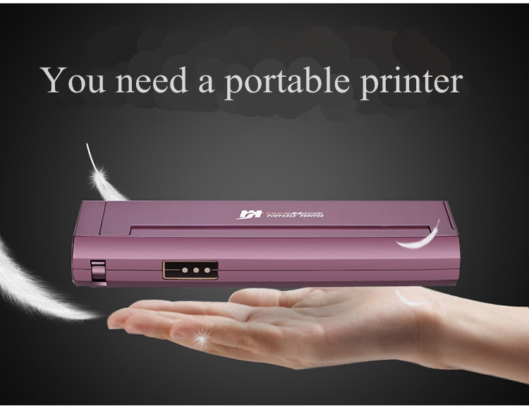 A4 paper portable printer Mini thermal printer Bluetooth or USB connection without cartridges Tattoo Print