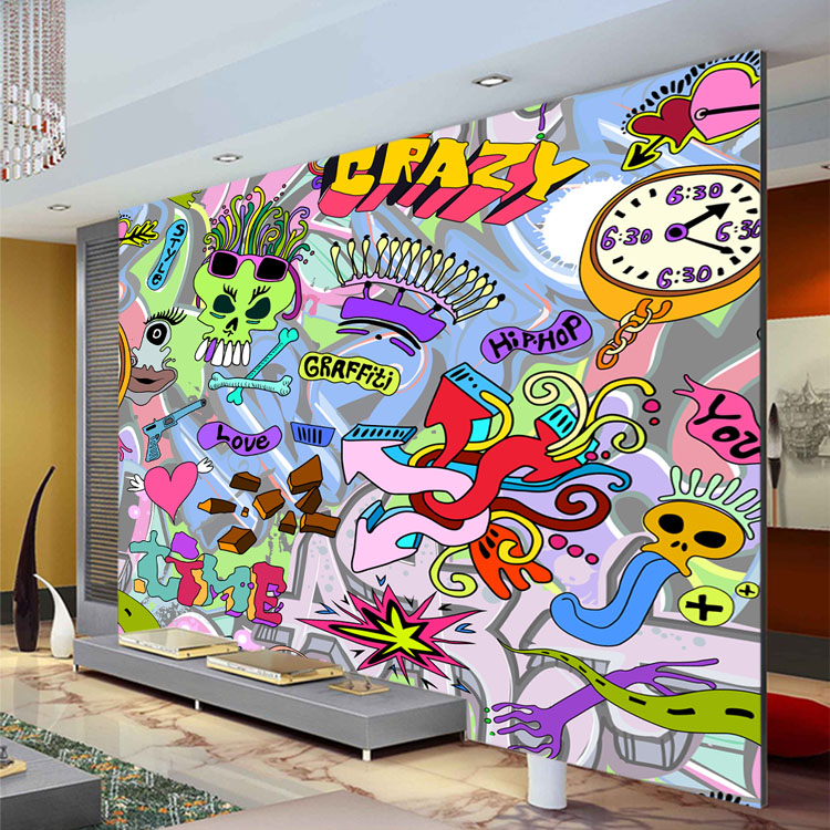 Graffiti wall murals wallpaper for Art mural wallpaper