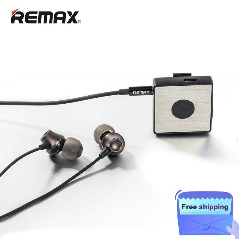 Livraison gratuite Remax Bluetooth écouteur sport Lavalier pince sans fil stéréo Bluetooth FM Radio fone de ouvido RB-S3