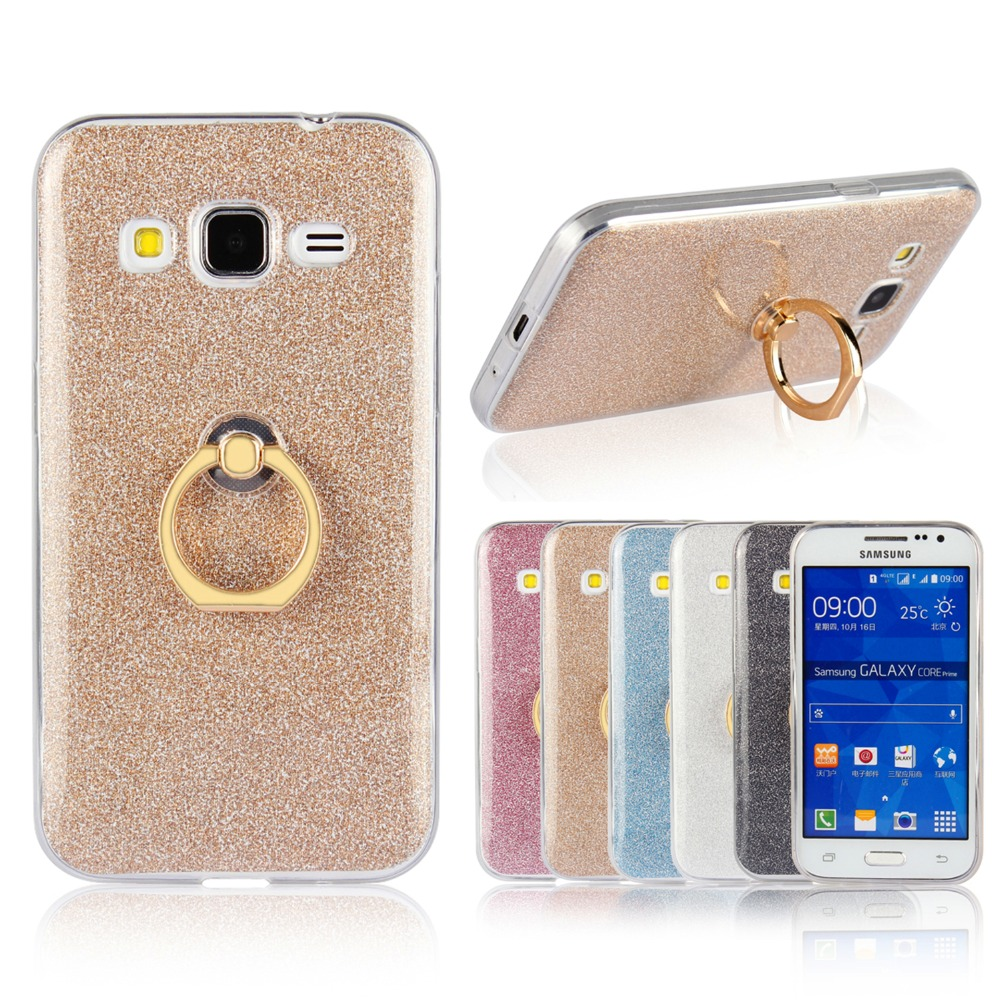 Ultra Thin Soft TPU Gel Original Kickstand Finger Ring Phone Cover for <font><b>samsung</b></font> <font><b>galaxy</b></font> <font><b>Ace</b></font> <font><b>4</b></font> Lite G313 <font><b>SM</b></font>-G313H Ace4 <font><b>Neo</b></font> <font><b>SM</b></font>-<font><b>G318H</b></font> image