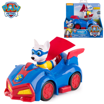 Paw Patrol Toy Car Apollo Superman Dog Canine Patrulla Canina Action Figures Anime Pow Patrol Model PVC Toys Of children Gift