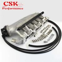 Intake Manifold +Fuel Rail &Q45 Throttle Body 90 85mm Fits For NISSAN Skyline R32 R33 RB25 RB25DET GTS T