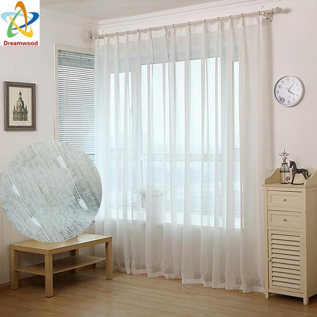 rideaux salon pas cher chaude pas cher solide blanc tulle. Black Bedroom Furniture Sets. Home Design Ideas