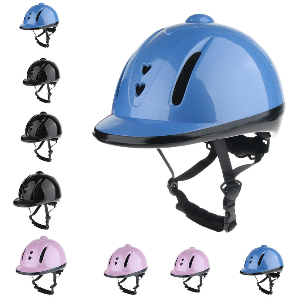 Adjustable Equestrian Safety Helmet Men Women Outdoor Horse Riding Show Performance Head Protector