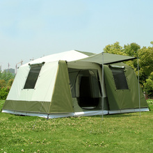 2017 stock new color Big tent outdoor camping 10-12people high quality luxury family/party 2room 1hall outdoor camping tent