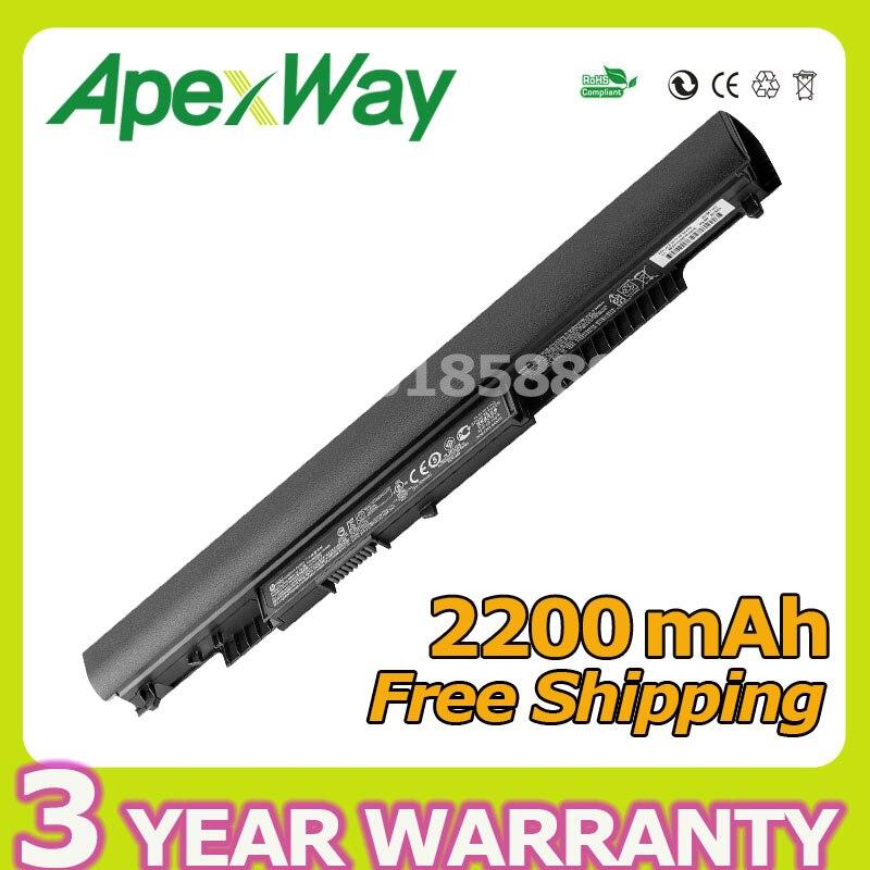 Apexway 2200mAh 14.8V 14-ac0XX Laptop Battery For HP Notebook PC HS03 15-ac0XX HS04 240 807956-001 HSTNN-LB6 HSTNN-LB6V 250 G4 hs03 hstnn ib7a 807956 001 hstnn lb6u laptop battery for hp 15 ac113cl af148ca af113cl notebook 15 255 g4 250 g4 10 95v 3 cell