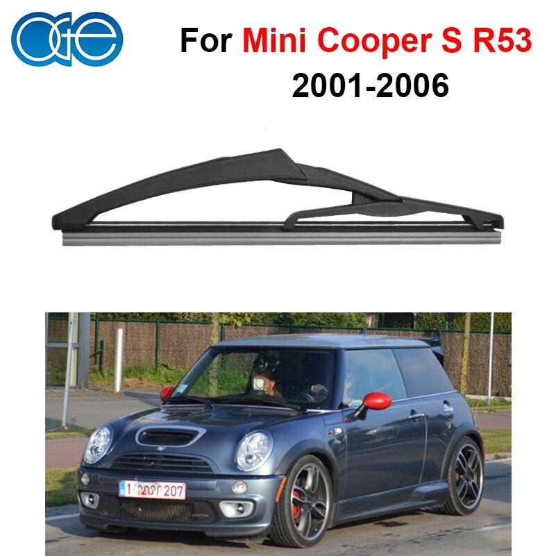 Prix pour Oge 12 ''Rear D'essuie-Glace Lames Pour Mini Cooper S R53 2001-2006 Pare-Brise En Caoutchouc de Silicone Auto Pièces De Voiture Accessoires C3-29