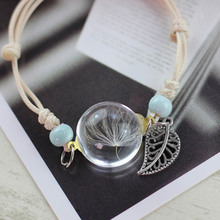Boho Handmade Dry Flower Glass Ball Bracelet
