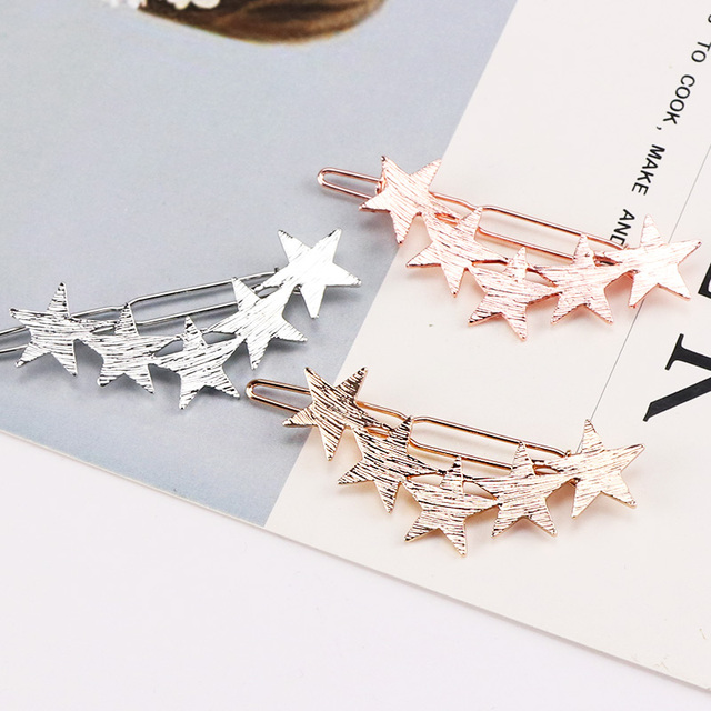 Alloy Stars Barrettes Hair Clips 2