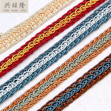 hot deal buy 15m/lot 1.5cm wide curtain lace trim diy sewing for sofa pillow lamp edge curtain accessories fringes ribbon home textile decor