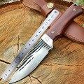 Swayboo ручной работы ковочный стальной острый охотничий нож 58HRC фиксированный нож с деревянной ручкой стальной прямой тактический нож для выж...