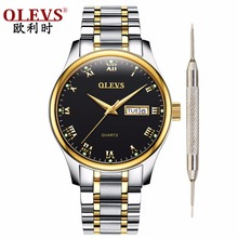 Olevs mens watches Top brand Luxury 2018 New Quartz Watches with date Business Wristwatch Waterproof Clock Luminous hands watch olevs charm men business watches luminous hands clock watch day and date stainless steel bracelet waterproof wristwatch for man