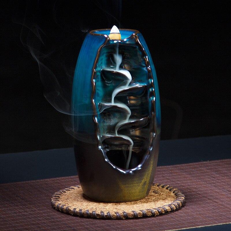 Back flow incense burner ceramic incense burner incense sandalwood supplies incense burner home crafts ornaments